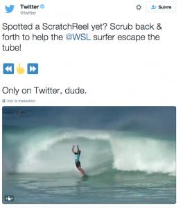 ScratchReel de Twitter pour visionner des Gifs  Twitter